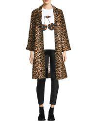 Ganni - Camberwell Leopard Print Jacket - Lyst