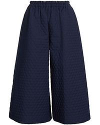 Gucci Quilted Culotte Pants - Blue
