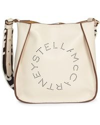 Stella McCartney Stella Logo Shoulder Bag - White