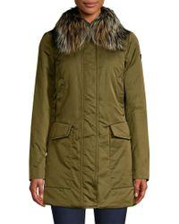 Post Card - Women's Barwa Silver Fox Fur Collar Jacket - Verdefo Gliame - Size 42 (6) - Lyst