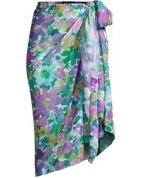 PATBO Gabi Floral Print Pareo - Purple