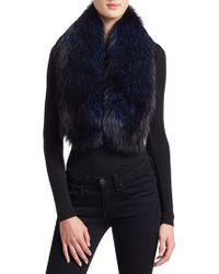 Saks Fifth Avenue - Fox Fur Pull-through Stole - Lyst