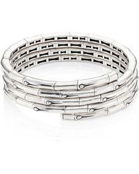 John Hardy - Bamboo Sterling Silver Coil Bracelet - Lyst