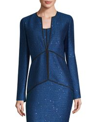 St. John - Luster Sequin-knit Jacket - Lyst