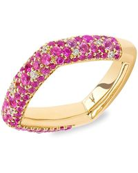 Robinson Pelham Zone 18k Yellow Gold, Pink Sapphire & Diamond Ring - Metallic