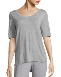 Hanro - Yoga Short Sleeve Top - Lyst
