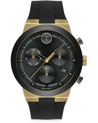Movado - Bold Fusion Ion-plated Stainless Steel Silocone-strap Chronograph Watch - Lyst