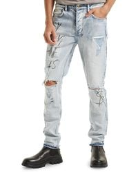 Ksubi Chitch Washed Out Royalty Distressed Jeans - Blue