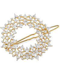 Adriana Orsini Mixed Crystal 18k Yellow Goldplated Barrette - Metallic