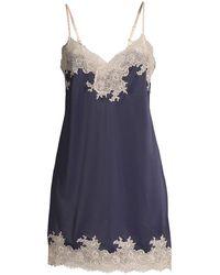 Natori Enchant Floral Lace Chemise - Blue