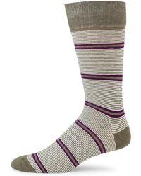 Saks Fifth Avenue | Two Tonal Striped Socks | Lyst
