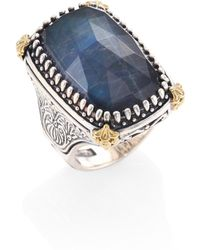 Konstantino - Cassiopeia Doublet Spectrolite, 18k Yellow Gold, & Sterling Silver Ring - Lyst