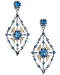 Konstantino - Thalassa London Blue Topaz, 18k Yellow Gold & Sterling Silver Chandelier Earrings - Lyst