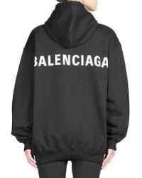 Balenciaga - Oversized Logo Hoodie - Lyst