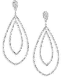 Adriana Orsini - Double Drop Crystal Earrings - Lyst