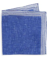 Isaia - Linen Pocket Square - Lyst