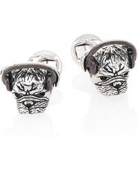Saks Fifth Avenue - Headphones Plugged Pug Cuff Links - Lyst
