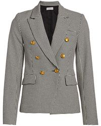 A.L.C. Alton Double-breasted Houndstooth Blazer - Black