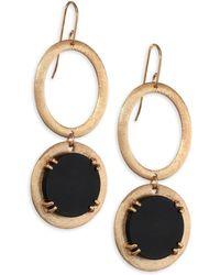 Stephanie Kantis - Onyx Oval Drop Earrings - Lyst