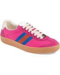 Gucci - Nylon & Suede Web Sneakers - Lyst