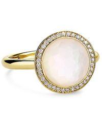 Ippolita Lollipop 18k Yellow , Mother-of-pearl Doublet & Diamond Mini Ring - Metallic