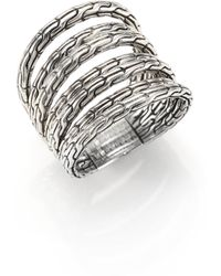 John Hardy - Classic Chain Sterling Silver Multi-band Ring - Lyst