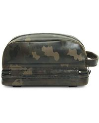 Frye Holden Camo Leather Toiletry Bag - Green