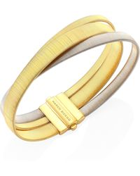 Marco Bicego | Masai 18k Yellow & White Gold Three-strand Bracelet | Lyst