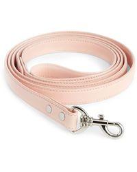 Royce Leather Dog Leash - Pink