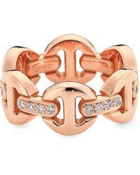 Hoorsenbuhs Heritage Brute Classic Rosegold Diamond Ring - Multicolor