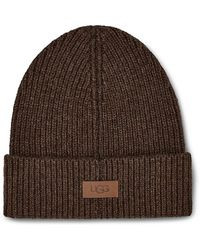UGG Ribbed Wide-cuff Beanie - Gray