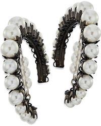 Erickson Beamon - Solidarity Faux-pearl Hoop Earrings - Lyst
