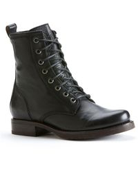 Frye Veronica Combat Boots - Black