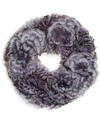 Saks Fifth Avenue Chinchilla Fur Knit Headband - Natural