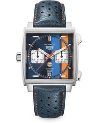 Tag Heuer Monaco Gulf Caliber 11 Automatic Watch 38mm - Blue
