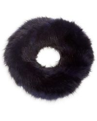 Saks Fifth Avenue Dyed Knitted Sable Headband - Blue