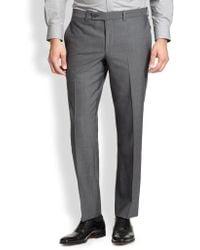 Saks Fifth Avenue | Modern-fit Wool Trousers | Lyst