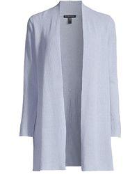 Eileen Fisher Linen-cotton Cardigan - Blue
