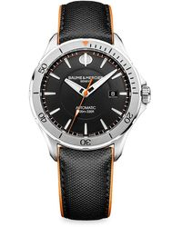 Baume & Mercier Clifton Club Stainless Steel & Leather Strap Watch - Metallic