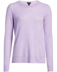 Saks Fifth Avenue Collection Featherweight Cashmere Sweater - Purple