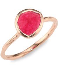 Monica Vinader - Siren Nugget Pink Quartz Cocktail Ring - Lyst
