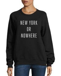 Knowlita - New York Or Nowhere Graphic Sweatshirt - Lyst