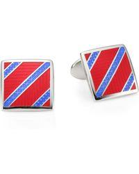 David Donahue - Sterling Silver Diagonal Stripe Cufflinks - Lyst