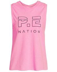 P.E Nation High Twist Shuffle Tank Top - Pink
