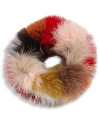 Surell - Multicolor Fox Fur Headband - Lyst