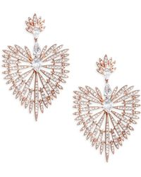Adriana Orsini - Swarovski Crystal Burst Drop Earrings - Lyst