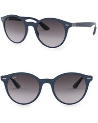 Ray-Ban - 50mm Liteforce Gradient Round Sunglasses - Lyst