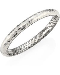 John Hardy - Classic Chain Medium Hammered Sterling Silver Bangle - Lyst