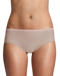 On Gossamer - Solid Lace-trimmed Briefs - Lyst