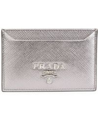 Prada - Saffiano Leather Card Case - Lyst